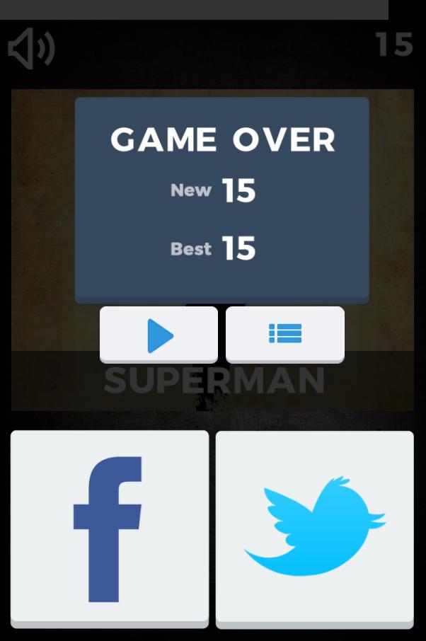 Superhero Trivia Quiz - HTML5 Casual Game