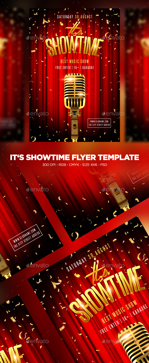 Its Showtime Flyer - Clubs & Parties Events