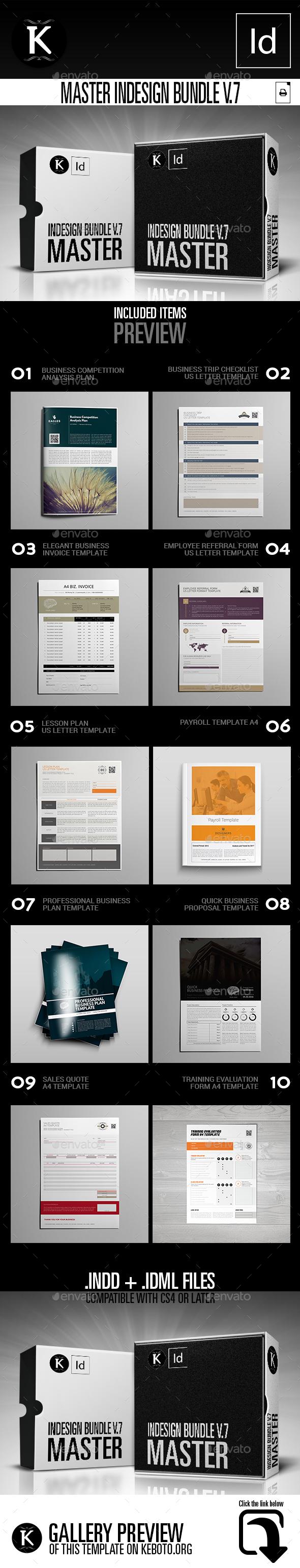 Master inDesign Bundle v.7 - Print Templates