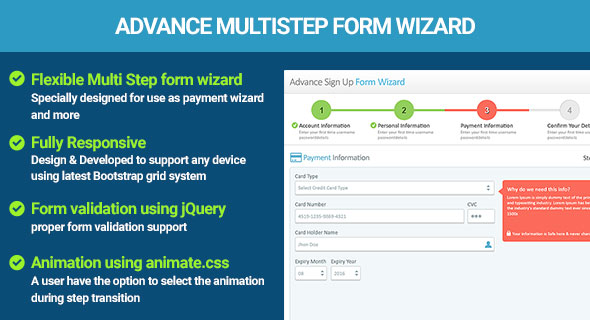 Multi Step Form Wizard jQuery Validation