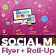 Social Media Marketing Flyer & Roll-Up Banner