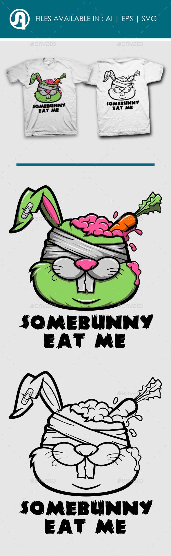 Zombie Rabbit T-Shirt Design - T-Shirts