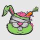 Zombie Rabbit T-Shirt Design