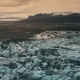 Aerial View of the Ice Lagoon on Sunset - VideoHive Item for Sale