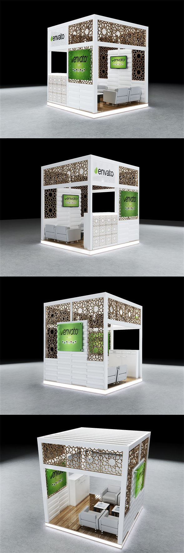 exhibition booth cg textures 3d models from 3docean