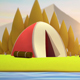Low Poly Camping Background Loop - VideoHive Item for Sale