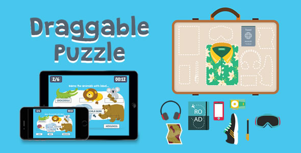 Draggable Puzzle - HTML5 Game - CodeCanyon Item for Sale