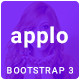 APPLO - Bootstrap 3 One Page Multipurpose HTML Template For Apps Services  Softwares Nulled