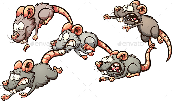 Running Rats - Animals Characters