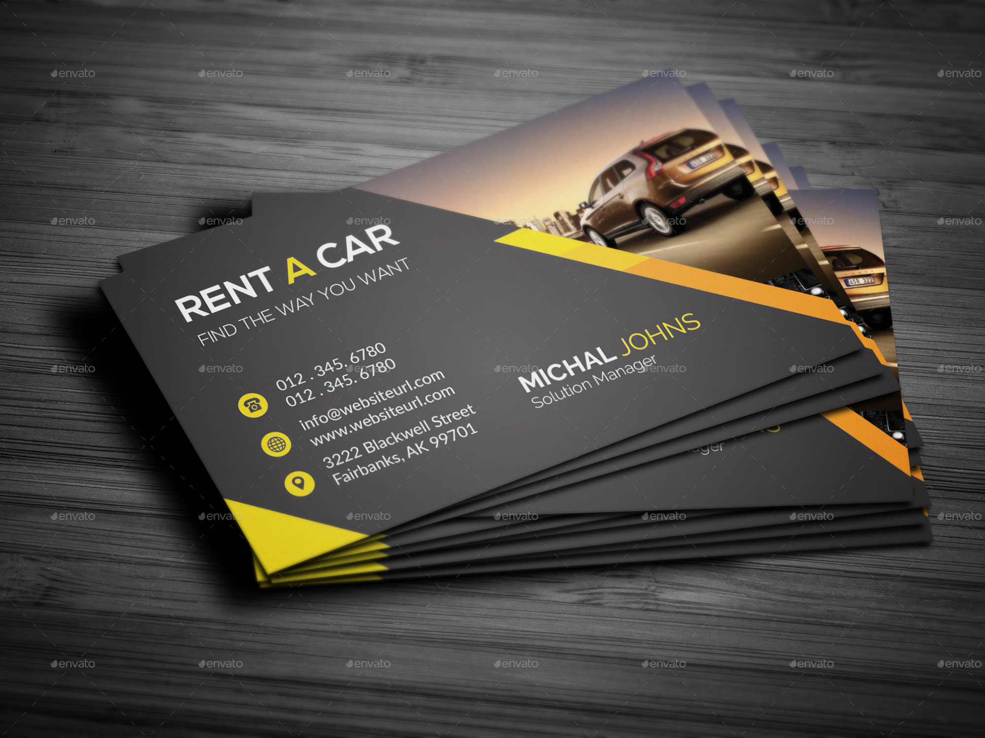 Rent A Car Business Card Business Cards Print Templates Preview Image Set Preview_ Jpg