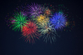 Purple green red blue yellow celebration fireworks - PhotoDune Item for Sale
