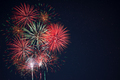 Red green yellow fireworks located left side - PhotoDune Item for Sale