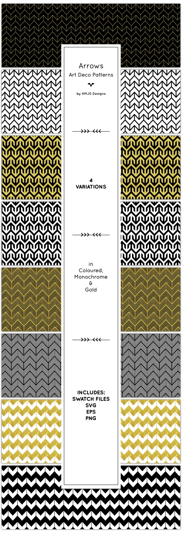 Arrow Patterns - Textures / Fills / Patterns Illustrator