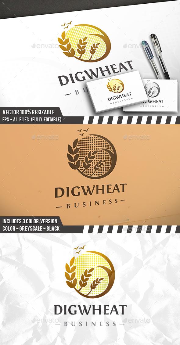 Digital Wheat Logo - Restaurant Logo Templates