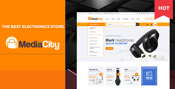 MediaCity - Technology Responsive Magento Theme - Technology Magento