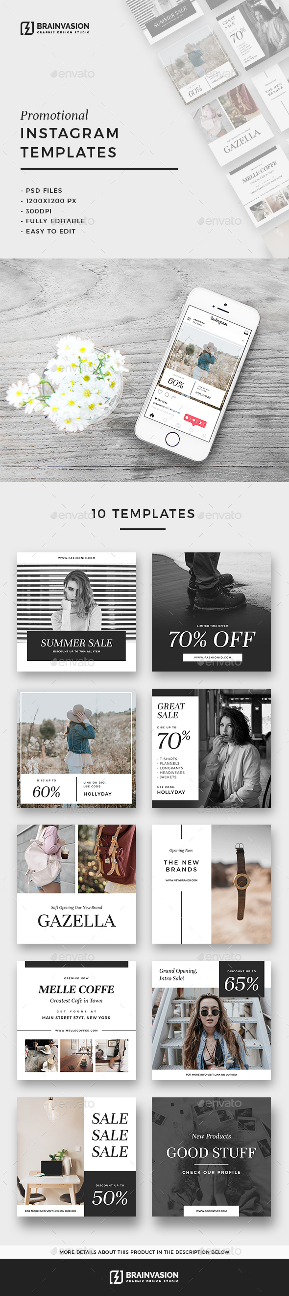 10 Promotional Instagram Templates - Miscellaneous Social Media