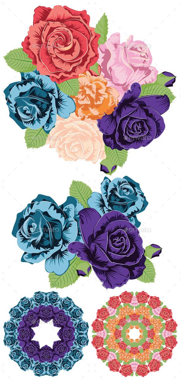 Vintage Roses Ornament - Flowers & Plants Nature