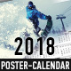 2018 Poster-Calendar template - GraphicRiver Item for Sale