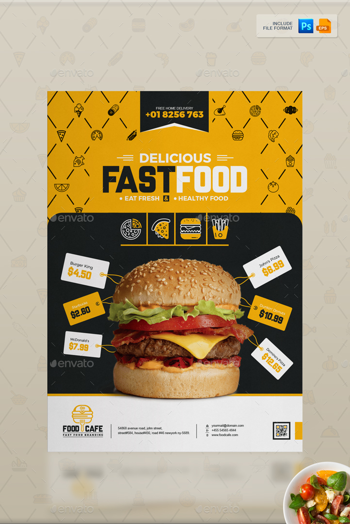 Branding Identity For Fast Food / Restaurants / Cafe By Contestdesign