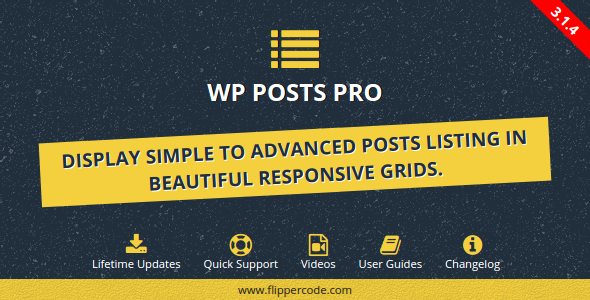 Advanced Posts Grid for Wordpress - CodeCanyon Item for Sale
