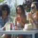 Women Having Drinks in Summer Day