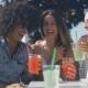 Cheerful Friends Enjoying Drinks