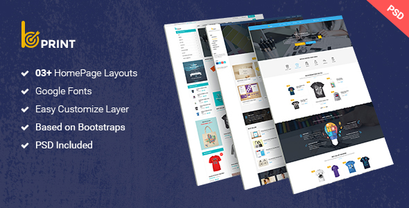 Bprint - Type Design & Printing Services PSD Theme