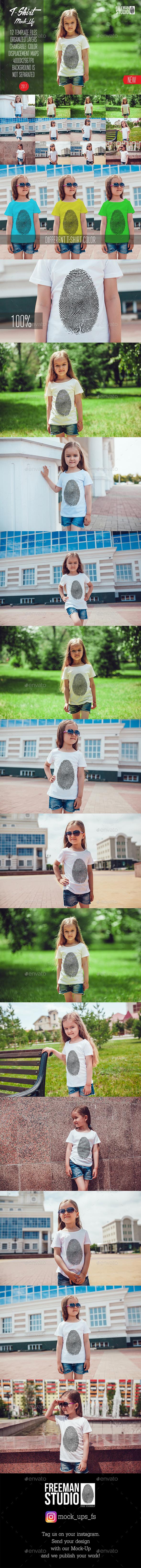 Kids T-Shirt Mock-Up Vol.6 2017 - Product Mock-Ups Graphics