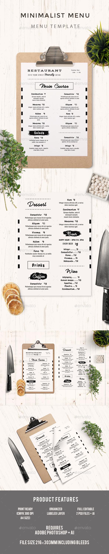 Minimal Food Menu - Food Menus Print Templates
