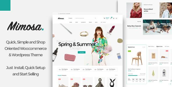 Mimosa - Minimalist AJAX WooCommerce WordPress Theme