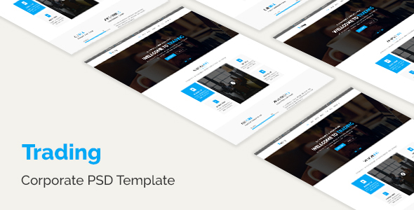Trading - Corporate PSD Template - Marketing Corporate