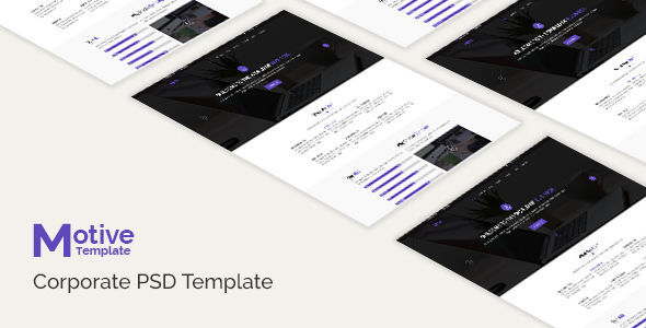 Motive - Corporate PSD Template - Business Corporate