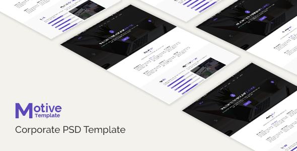 Motive - Corporate PSD Template - Business Corporate