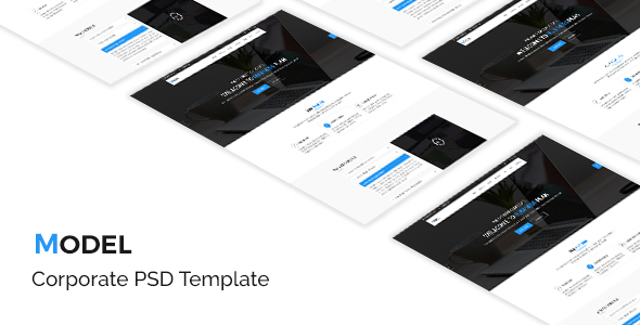 Model - Corporate  PSD Template - Marketing Corporate