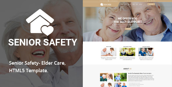 Senior Safety - Senior Security HTML5 Template - Health & Beauty Retail