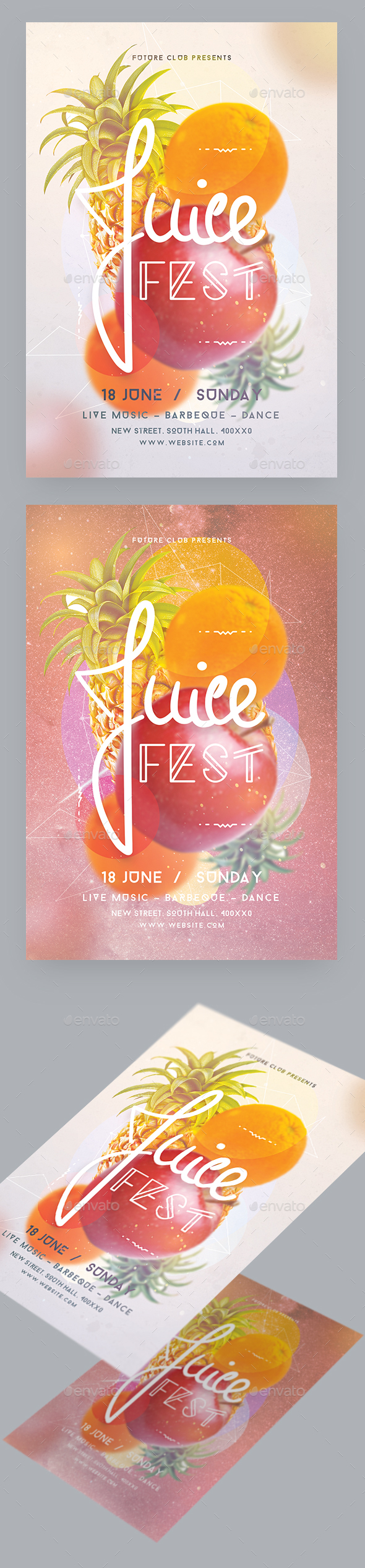 Juice Fest Party Flyer - Events Flyers
