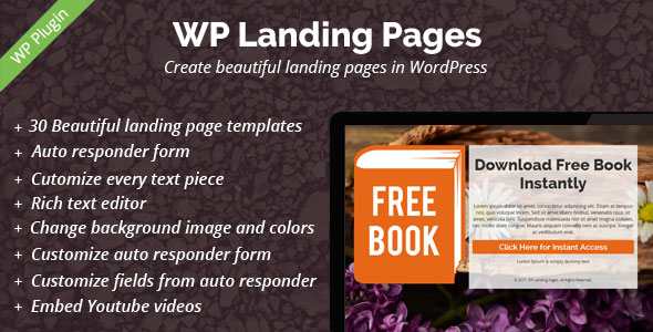 WP Landing Pages Pro - 30 Landing Page Templates Included - CodeCanyon Item for Sale