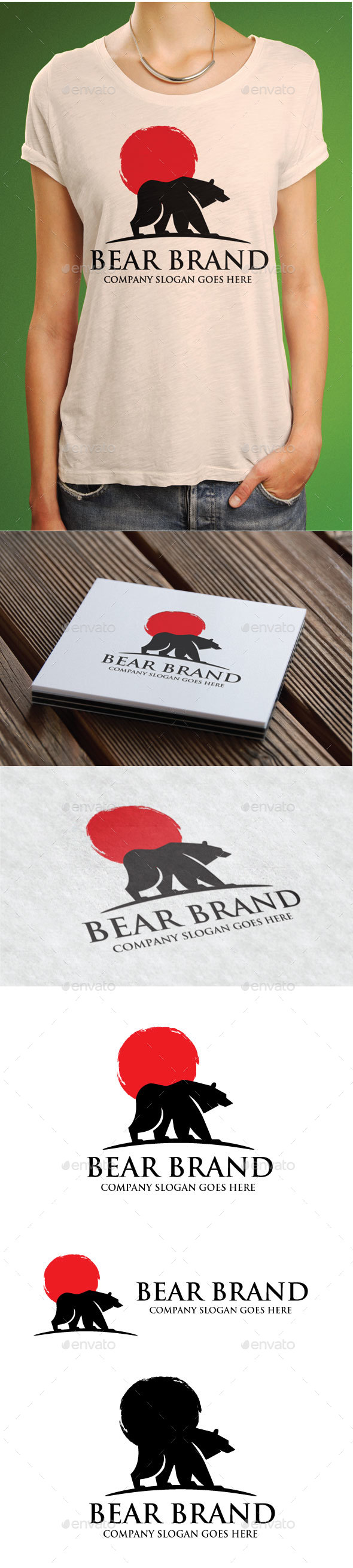 Bear Brand Logo - Animals Logo Templates
