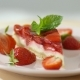 Strawberry Cheesecake on Plate