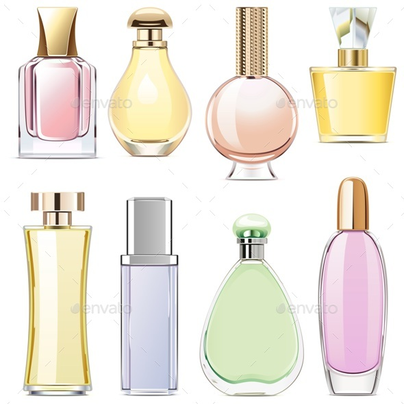 Vector Fragrance Icons - Retail Commercial / Shopping