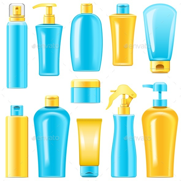 Vector Sunscreen Cosmetics - Health/Medicine Conceptual