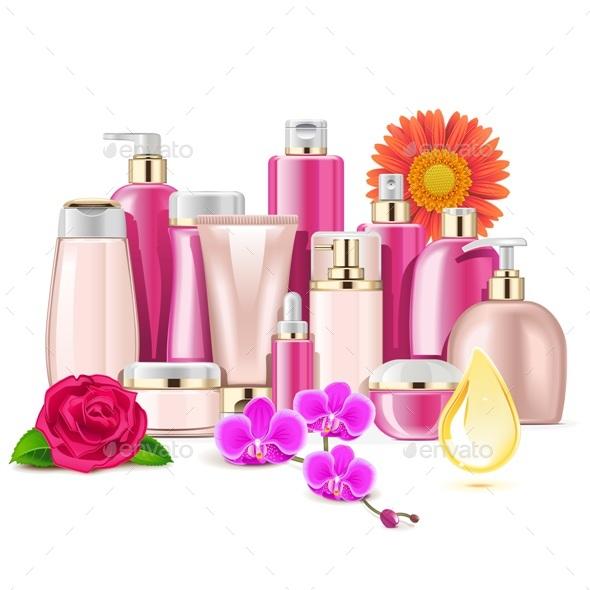 Vector Flower Cosmetics - Health/Medicine Conceptual