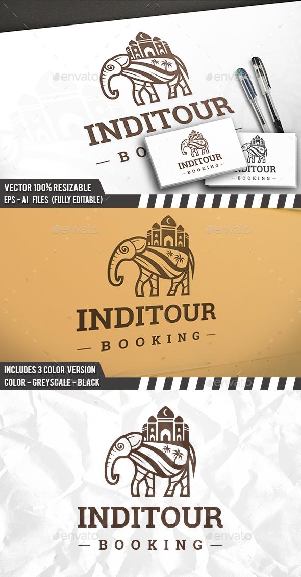Indian Elephant Tour Logo - Animals Logo Templates