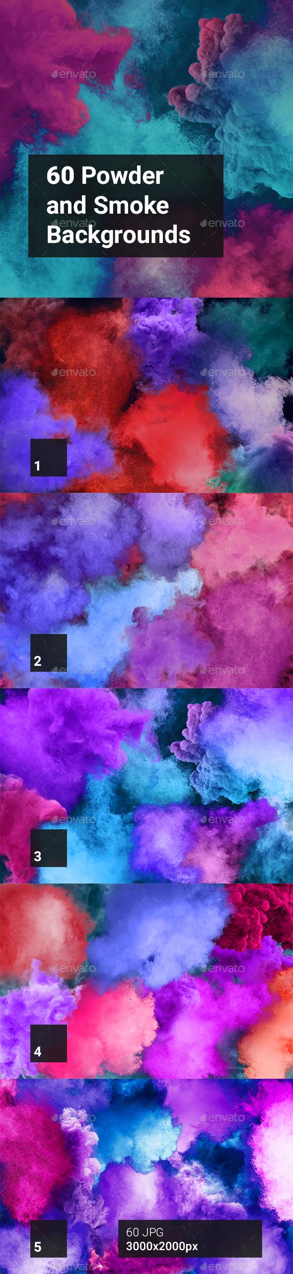60 Powder And Smoke Backgrounds - Abstract Backgrounds