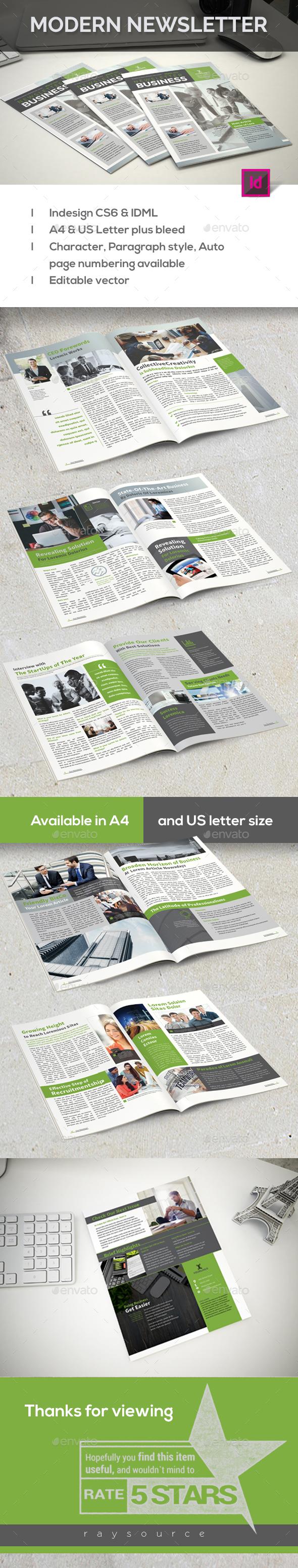 Modern Newsletter - Newsletters Print Templates