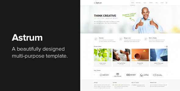 Astrum - Responsive Multi-Purpose HTML Template - Business Corporate