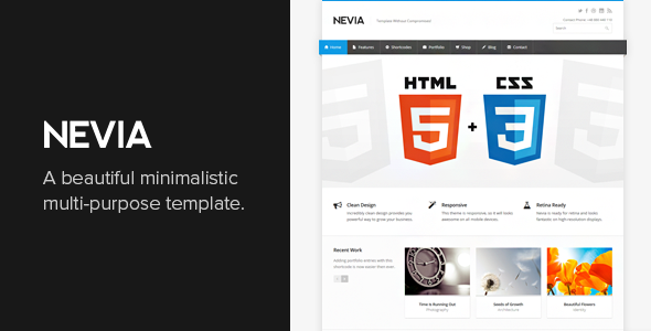 Nevia - Responsive HTML5 Template Screenshot