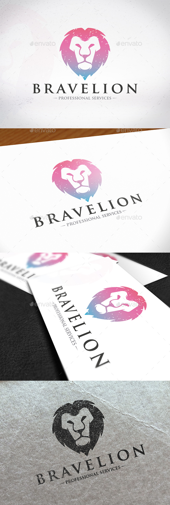 Brave Lion Logo Design - Animals Logo Templates