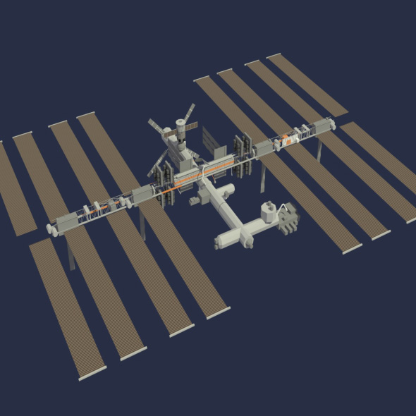 Low Poly ISS Model - 3DOcean Item for Sale