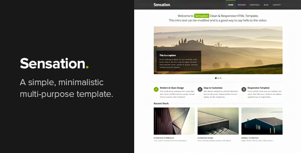 Sensation - Responsive HTML Template - Business Corporate
